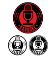 Karaoke Microphone symbol vector image vector image