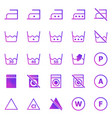 laundry gradient icons on white background vector image