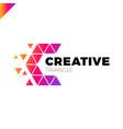 letter c creative triangle color logo design vector image vector image