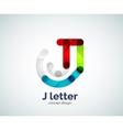 Letter j logo vector image vector image