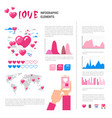 love icons and elements over infographic template vector image vector image