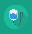 Medical Flat Icon Saline bag vector image