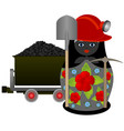 miner with a pick and shovel vector image vector image