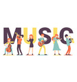 music big text vector image vector image