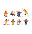 painters workers set men and women are painters vector image