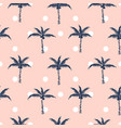 palm trees pink polka dot retro style seamless vector image vector image