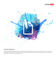 pencil and note icon - watercolor background vector image
