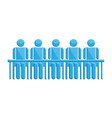 people in meeting blue business symbol vector image vector image
