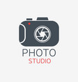 photo camera logo photo studio concept vector image