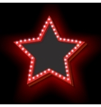 Retro frame with lights in the shape of a star vector image vector image