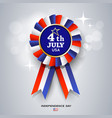 ribbon award america flag design vector image vector image