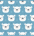 seamless pattern with cute bear vector image vector image