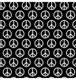 Seamless pattern with peace signs Background for vector image vector image