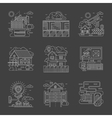 Security control white line detailed icons