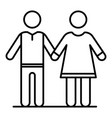 senior couple icon outline style vector image