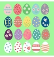 set easter eggs vector image