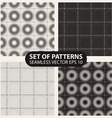 set of seamless knitted patterns graphics vector image vector image