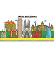spain barcelona city skyline architecture vector image vector image
