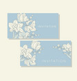 tender orchid flowers pattern for card invitation vector image