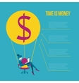 Time is money infographics template vector image