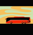 tour bus service bus travel around world vector image vector image