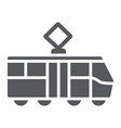 tram glyph icon transportation and railway city vector image vector image