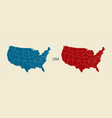 usa map in blue and red color modern map usa with vector image