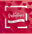 valentines day sale backgroundpposter template vector image vector image