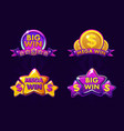 violet four gambling icons for lottery or casino vector image vector image