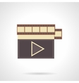 Watch video flat color icon vector image