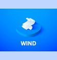 wind isometric icon isolated on color background vector image vector image