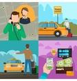Taxi city transportation service concepts vector image