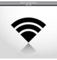 wi fi web flat icon vector image