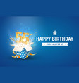 55 th years anniversary banner with open burst vector image vector image