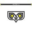 abstract owl chat vector image vector image