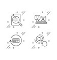 analytics chart refund commission and smile icons vector image vector image