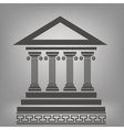ancient columns vector image vector image