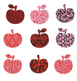apple with patterns - abstract vector image vector image