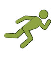 athlete running pictogram vector image vector image