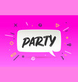 banner party in geometric style vector image vector image