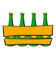 beer wooden box icon icon cartoon vector image vector image