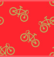 bike pattern seamless vector image