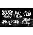 Black Friday Sale stickers set on black chalkboard vector image vector image