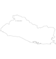 Black White El Salvador Outline Map vector image vector image