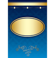 Blue background with gradient and golden decor