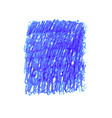 blue pen scribble texture stain isolated on white vector image vector image
