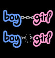 boy and girl chain vector image vector image