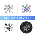 brokers connections icon vector image vector image