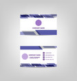 business card abstract design template vector image vector image