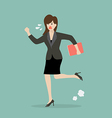 Business woman running in suit vector image